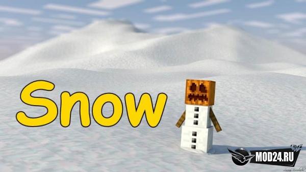 мод на снежки в майнкрафт