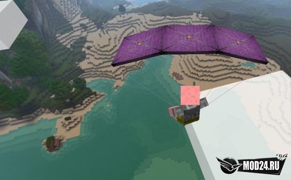 майнкрафт мод на парашют