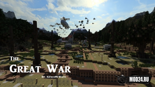 Карта The Great War [1.12.2, 1.11.2, 1.8.9, 1.7.10]