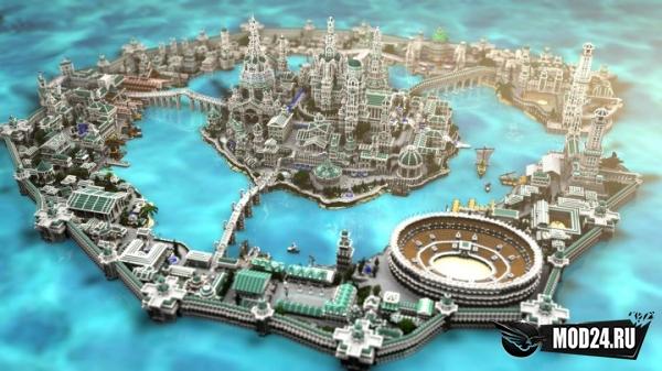 карта атлантида для майнкрафт
