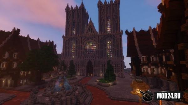 Средневековый город для майнкрафт