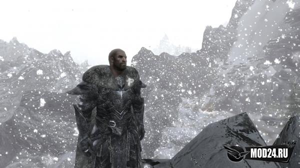 Броня и тело в снегу