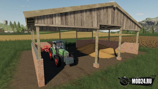 Навес Wood Frame Open Sheds With Brick Wall