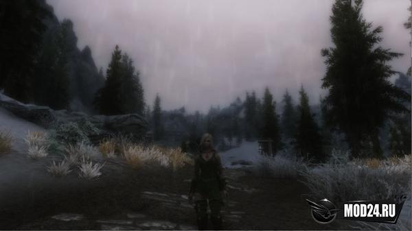 Реалистичный дождь