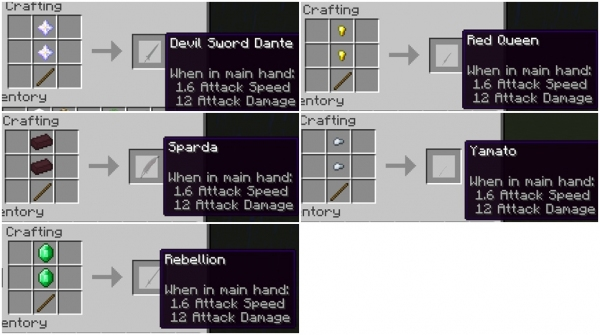 Devil May Cry Weapons [1.12.2]