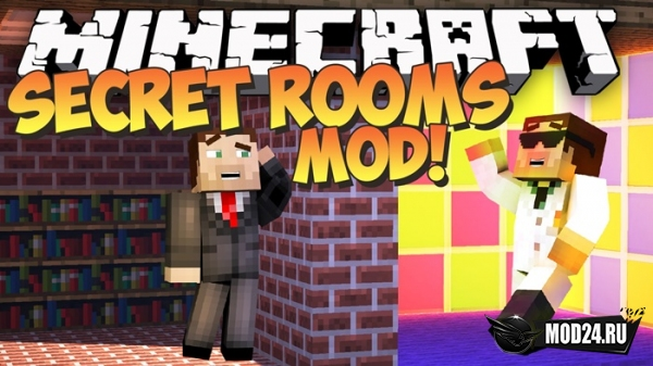 Превью Секретные ловушки Secret Rooms Mod [1.14.4]